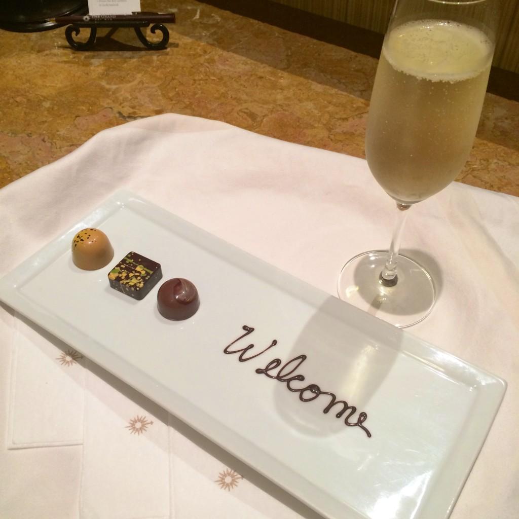 The Spa at Grand del Mar truffles + champagne