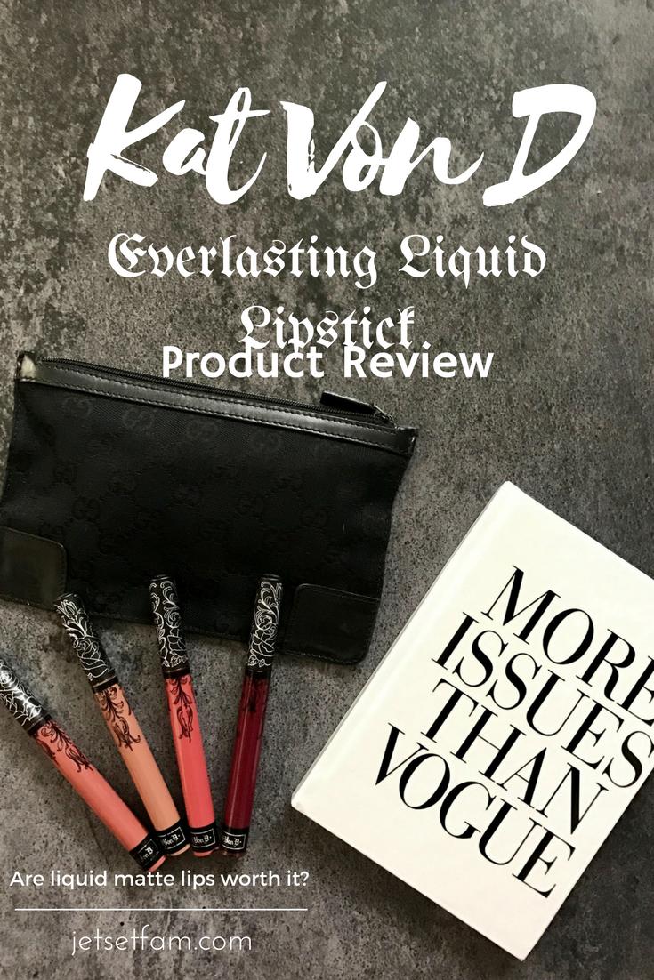 Kat Von D Everlasting Liquid Matte Lipstick Review