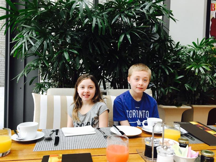 Ski Week Montreal with Kids Breakfast Ritz Carlton Montreal